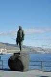 Statua indiana di Guanche, Tenerife, isola delle isole Canarie, Spagna Immagini Stock