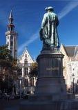 Statua Jean Van Eyck Obciosujący Bruges Belgia obraz stock