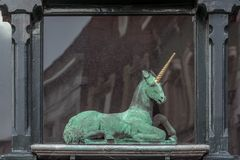 Statua jednorożec zdjęcia stock