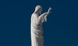 Statua jezus chrystus przy kościół Notre Damae de los angeles Garde, Mars Obraz Royalty Free