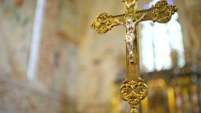 Statua jezus chrystus w kościół zdjęcie wideo