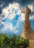 Statua jezus chrystus w Tudela, Hiszpania Zdjęcie Stock