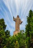 Statua jezus chrystus w Tudela, Hiszpania zdjęcia stock