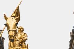 Statua Joan łuk w Paryż Zdjęcia Royalty Free