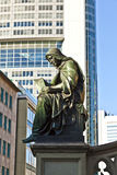Statua Johannes Gutenberg, nowator książkowy druk, Frankfu zdjęcia royalty free