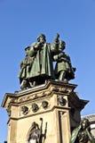 Statua Johannes Gutenberg, nowator książkowy druk, Frankfurt magistrala - Am - obrazy stock