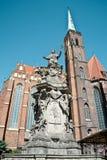 Statua John Nepomuk w Wrocławskim Zdjęcie Royalty Free