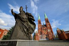 Statua John Paul IIl Rybnik, Polska zdjęcie stock