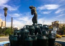 Statua Kahramana ed i quaranta ladri fotografia stock