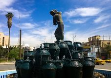 Statua Kahramana i Czterdzieści złodziejów fotografia stock