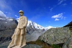 Statua Kaiser Franz Joseph Ja przy Grossglockner, Austria Zdjęcie Royalty Free
