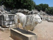 Statua kamienny lew Zdjęcie Stock