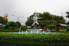 Statua kapitan Tubagus Muslihat jako jeden Infonesia bohater narodowy od Bogor fotografii brać w Indonezja Fotografia Stock