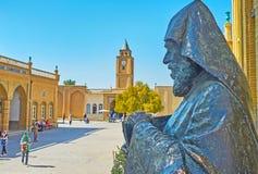 Statua Khachatur Kesaratsi w Vank monasterze, Isfahan, I Obraz Royalty Free