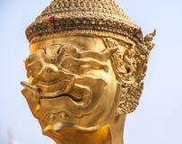 Statua kinnara w Wacie Phra Kaew Zdjęcie Royalty Free