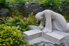 Statua kościół, Montreal, Kanada Obrazy Royalty Free