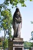 Statua kobieta, cmentarz Zdjęcia Stock