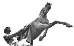 Statua konkieta koń na Anichkov moscie zdjęcie royalty free