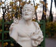 Statua królewiątka Midas przy wieczór fotografia royalty free