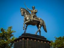 Statua królewiątka shivaji w Pune, maharashtra, India zdjęcie stock