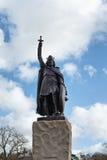 Statua królewiątko Alfred Wielki w Winchester zdjęcia royalty free