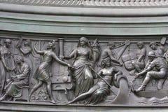 Statua królewiątko John Saxony Konig Johann Ja von Sachsen przy Theaterplatz w Drezdeńskim, Fotografia Royalty Free