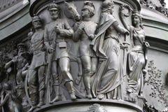 Statua królewiątko John Saxony Konig Johann Ja von Sachsen przy Theaterplatz w Drezdeńskim, Obraz Stock