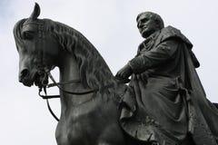 Statua królewiątko John Saxony Konig Johann Ja von Sachsen przy Theaterplatz w Drezdeńskim, Zdjęcie Stock