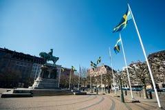 Statua królewiątko Karl X Gustav Obrazy Royalty Free