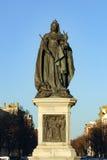 Statua królowa Wiktoria na słonecznym dniu w Brighton Sussex Zdjęcie Stock