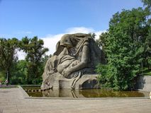 Statua kraj ojczysty, Mamayev Kurgan kompleks, Volgograd, Rosja obraz royalty free