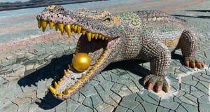 Statua krokodyl Fotografia Stock