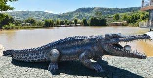 Statua krokodyl Fotografia Royalty Free