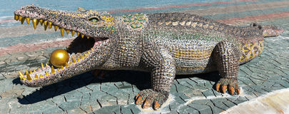 Statua krokodyl Obraz Royalty Free