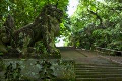 Statua in Kumamoto, Giappone fotografie stock