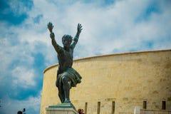 Statua laterale di Liberty Statue (statua di libertà) di Budapest, Ungheria Immagine Stock