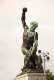 Statua laterale di Liberty Statue (statua di libertà) di Budapest, Ungheria Fotografia Stock