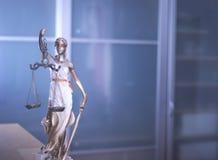 Statua legale della giustizia dello studio legale Fotografia Stock
