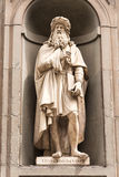 Statua Leonardo Da Vinci w Florencja Obrazy Royalty Free