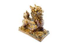 statua lew na białym tle Zdjęcia Stock