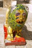 Statua lew na Jerozolimskich ulicach Zdjęcie Stock