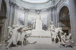 Statua los angeles konwencja Nationale wśrodku panteonu Paryż fotografia stock