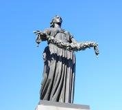 Statua Macierzysta Ojczyzna w Rosja Zdjęcia Stock