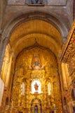 Statua Mary Painting Spain dell'altare della basilica della cattedrale di Avila Immagini Stock