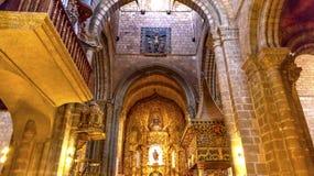 Statua Mary Painting Spain dell'altare della basilica della cattedrale di Avila Fotografie Stock