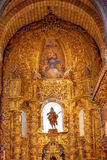 Statua Mary Painting Spain dell'altare della basilica della cattedrale di Avila Fotografia Stock