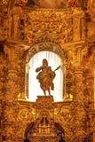 Statua Mary Spain dell'altare della basilica della cattedrale di Avila Fotografie Stock Libere da Diritti