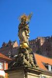 Statua Mary w Heidelberg Obraz Royalty Free