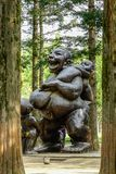 Statua matka i dziecko w Nami wyspie fotografia stock