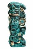 Statua Mayan della divinità dal Messico isolato immagine stock libera da diritti